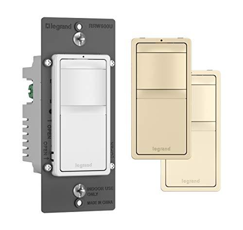 Legrand - Pass & Seymour radiant RRW600UTC Single Pole/3-Way Occupancy Sensor, Tri-Color (Includes 3 Interchangable Face Covers: White, Ivory, Light Almond)