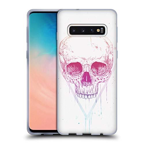 Official Balázs Solti Triangle Skulls Soft Gel Case for Samsung Galaxy S10 from Head Case Designs