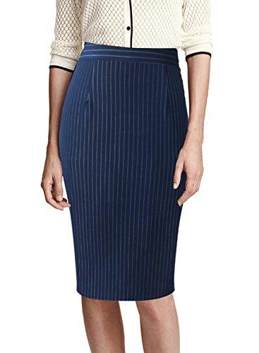 VFSHOW Womens Elegant High Waist Work Business Office Casual Pencil Skirt 937 STP L