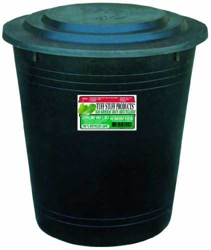 Tuff Stuff Products KMW109 Drum with Lid, 13-Gallon