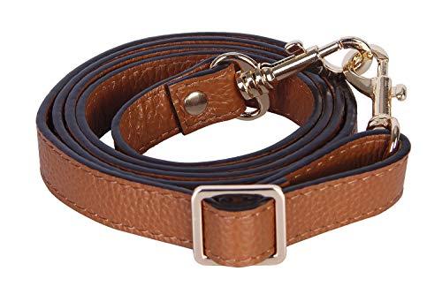 (VanEnjoy Full Grain Leather Adjustable Replacement Cross Body Purse Shoulder Strap, 0.7