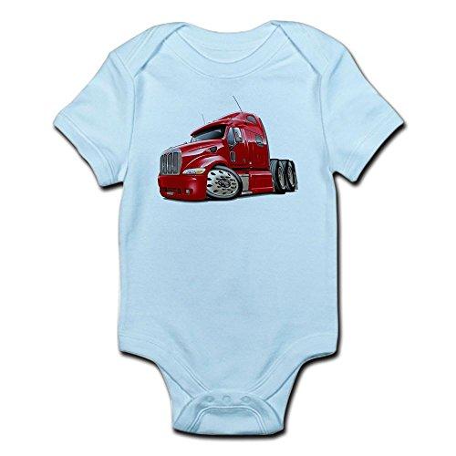CafePress Peterbilt 587 Red Truck Infant Bodysuit - Cute Infant Bodysuit Baby (Freightliner Apparel)