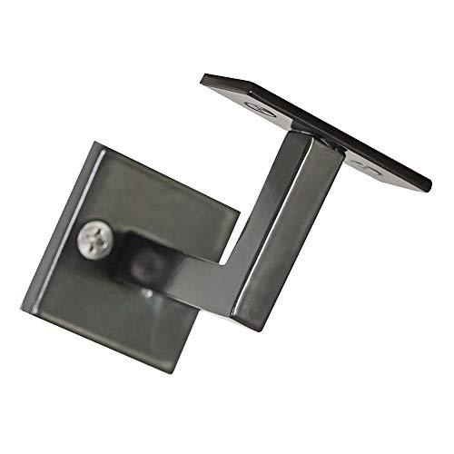 Minimal Handrail Bracket – Modern Steel Metal Stair Rail Black by Bold MFG & Supply in Austin TX