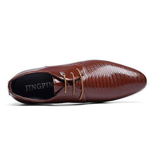 Scarpe Casual Da Uomo Moderno A Punta Aguzza Scarpe Casual Slip-on Oxford Marrone Chiaro