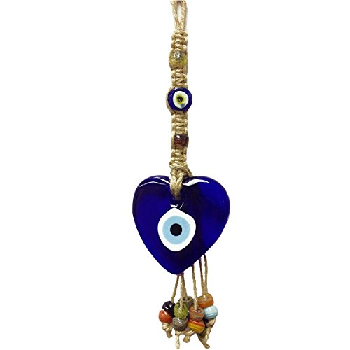 Evil Wall (12 inches high GIANT HEART Evil Eye Office/Home Décor Wall Hanging Ornament/Talisman to protect the persons and their belongings from envious looks. #CF76885156)