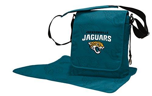 Wild Sports NFL Jacksonville Jaguars Messenger Diaper Bag, 13.25 x 12.25 x 5.75-Inch, Teal by Wild Sports