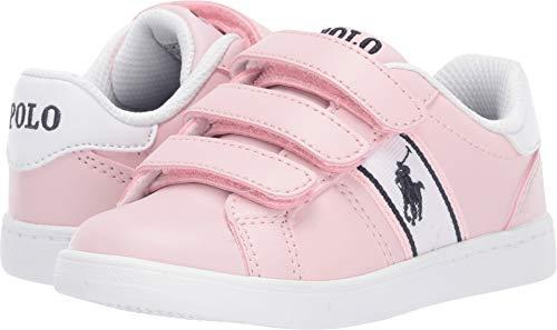 Polo Ralph Lauren Kids Baby Girl's Quigley EZ (Toddler) Light Pink Smooth/White/Navy/Navy Pony 6.5 M US Toddler (Shoes Girls Ralph Lauren)