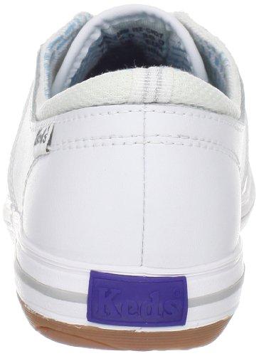 Sneaker Stringata In Pelle Bianca Keds Per Donna