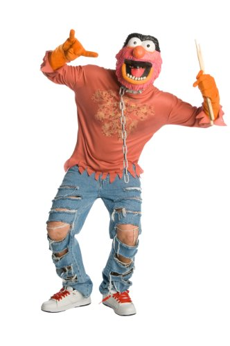 Muppets Animal Costume (The Muppets Animal Costume With Mask, Red, Small)
