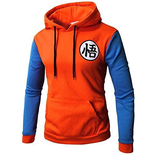Lichee Men's Dragon Ball Z Goku Clothing Casual Hoodies Sweatshirt Printed Cosplay Costume -