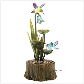 Hummingbird Haven Home Garden Decor Water Fountain by Home Locomotion