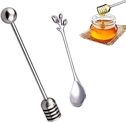 Maple Syrup,Chocolate,Caramel,Honey Spoons Wooden Honey Dipper Stick 10pcs 6-1//5 Wooden Syrup Dippers Honeycomb Sticks for Drizzling Honey