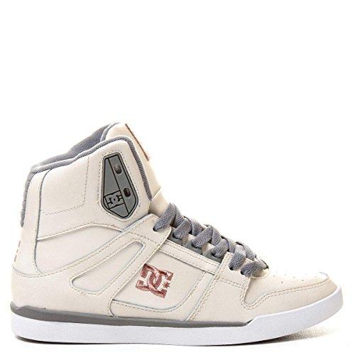 DC Women's Rebound Slim High Skate Shoe,Tan,6 M US