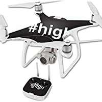 Skin For DJI Phantom 4 Quadcopter Drone – High | MightySkins Protective, Durable, and Unique Vinyl Decal wrap cover | Easy To Apply, Remove, and Change Styles | Made in the USA