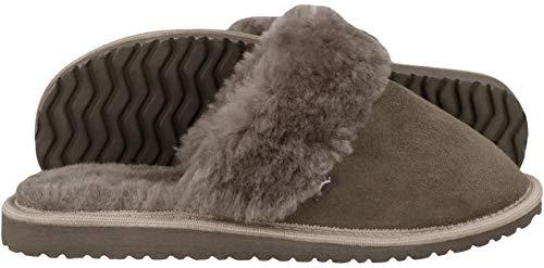 Inverno Leather Pelliccia Pregiate Pantofole D'agnello Ciabatte Shoes Adulto Rbj Da Esclusive Donna Calde 931 Grigio 100 Comode fWwS6qnd8