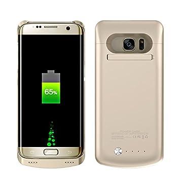 Funda Batería Samsung Galaxy S7 Edge 5200mAh , BasicStock Power bank Batería Externa Recargable, Cargador Portátil, Carcasa Con Batería Carcasa ...