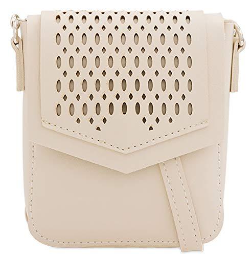 Shoulder Mini Ladies Aqua Twist Leather Beige Designer Satchel Faux Brass 0HBcfrayB