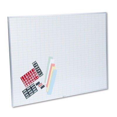 Visual Calendar Magnetic Magna - Magna Visual OB-3648B Magna Visual Magnetic Work/Plan Kit, 1x2 Grid, Porcelain-On-Steel, 48x36, BE/WE
