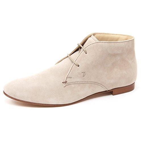 Shoe B4474 Boot Woman Tod's Polacchino Donna Scarpa Beige rp7pfYqw