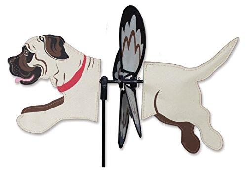Premier Kites Petite Wind Spinner for Patio, Lawn, Garden   100% Rain & UV Resistant Polyester - Aerodynamic, Sturdy Long Lasting Dog Wind Spinner (Mastiff)