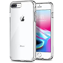 Spigen Ultra Hybrid [2nd Generation] iPhone 8 Plus Case/iPhone 7 Plus Case with Clear Protection and Air Cushion Technology for iPhone 8 Plus (2017) / iPhone 7 Plus (2016) - Crystal Clear