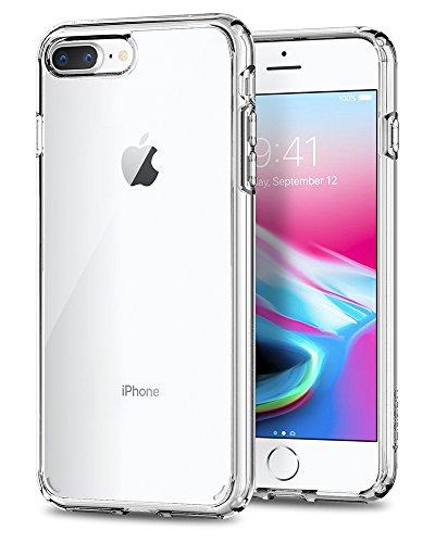 Spigen Ultra Hybrid [2nd Generation] Designed for Apple iPhone 8 Plus Case (2017) / Designed for iPhone 7 Plus Case (2016) - Crystal Clear (Best Phone Case For Iphone 8 Plus)