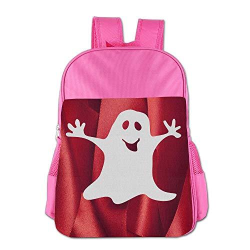 School Children'S School Bag Halloween Ghost Kids Cute Lightweight Backpack Or Travel Bag Pink -