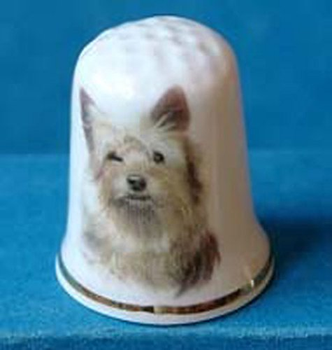 Porcelain China Collectable Thimble Yorkshire Terrier Dog