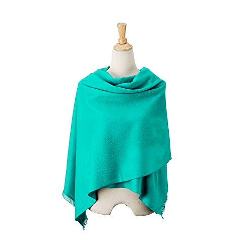 fleece super large soft scarf for women, fashion scarves wraps at the cold weather scarves, tassel shawl with solid color. scarf light and scarf warm. thick tassel scarf. green scarf