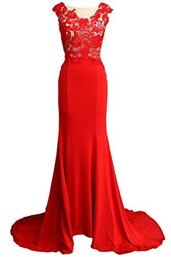 Vestito Red Donna a linea maniche Senza ad MACloth PdxHp7wqq