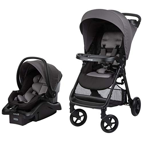 Safety 1st Smooth Ride Travel System with OnBoard 35 LT Infant Car Seat, Monument 2 (Best Infant Car Seat For Small Cars)