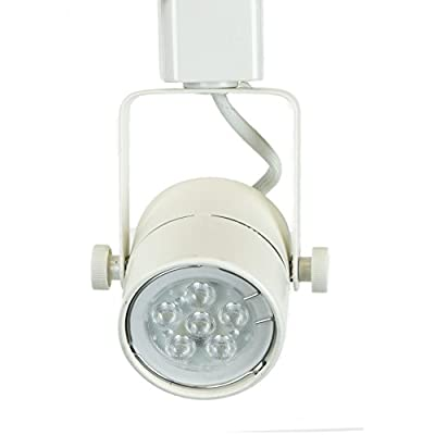 Direct-Lighting 50154L White GU10 LED Track Lighting Head - With 7.5W LED Bulb