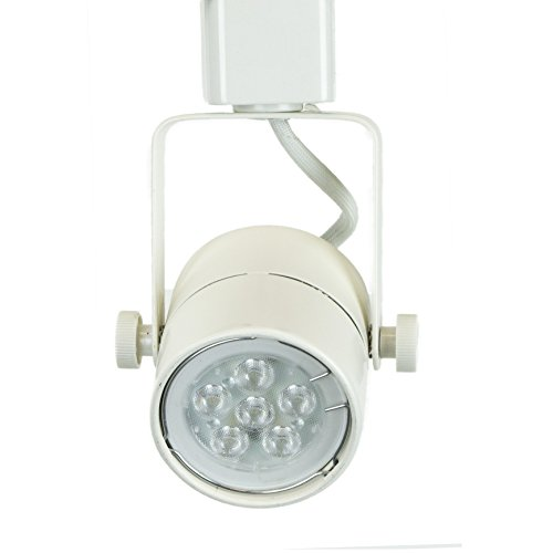 Lighting 50154L White GU10 LED Track Lighting Head With 3000K Warm