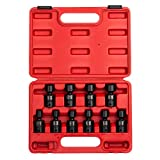 Sunex 3657, 3/8 Inch Drive Universal Impact Socket Set, 10-Piece, Metric, 10mm - 19mm, Cr-Mo Alloy Steel, Radius Corner Design, Dual Size Markings, Heavy Duty Storage Case, Meets ANSI Standards