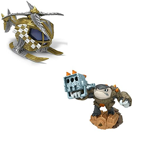 Skylanders Superchargers Characters and Vehicles. Includes Nitro Stealth Stinger and Shark Shooter Terrafin. Epic Adventures Await with This Pack of Figures for Skylanders Superchargers.