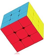 ROXENDA Speed Cube Profession 3 x 3 x 3 Speed Cube – Snabb Smidig Rotation – Solid Durable & Sticker Less Matta, Bästa 3D Puzzle Magic Toy – Stängs Snabbare än Originalet
