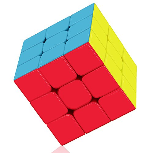 (Roxenda Speed Cube Profession 3x3x3 Speed Cube - Fast Smooth Turning - Solid Durable & Stickerless Frosted, Best 3D Puzzle Magic Toy - Turns Quicker Than Original)
