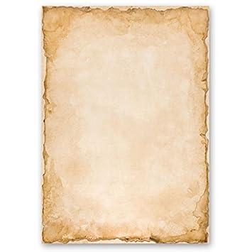 DIN A5 Format 100 Blatt Motiv-Briefpapier PERGAMENT