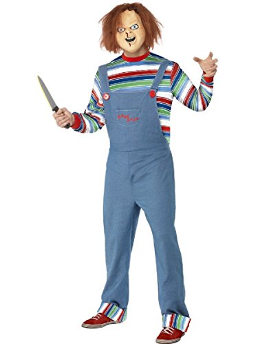 Smiffy's Men's Chucky Costume Medium Blue -