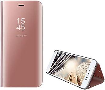 H/ülle Kompatibel f/ür Samsung Galaxy A50 H/ülle Mirror Flip Schutzh/ülle Ganzer K/örperschutz Spiegel Handyh/ülle Ultrad/ünn PU Handy Schutz L/öschen Clear View Cover f/ür Samsung Galaxy A50