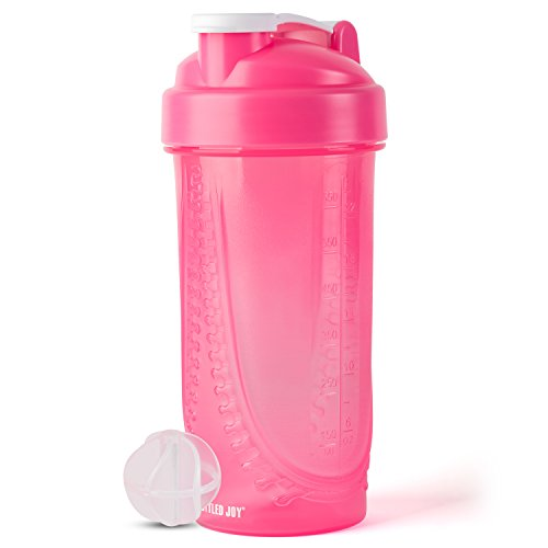 Protein Shaker Bottle BOTTLED JOY Shaker Bottle with Very Light and Easy to Clean, Sports Shaker Bottle for Gym Sports or Outdoor with Capacity 22ounce 650ml