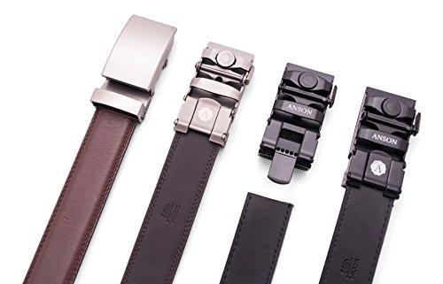 Anson Belt & Buckle - Mens 1.25 Black Canvas - Microfiber Backed Ratchet Belt Strap (Strap Only)