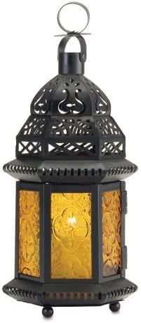 Amazon.com: 10 Yellow Wedding Moroccan Candle Lantern ...