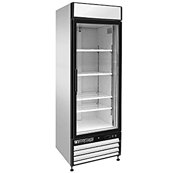 Maxx Cold MXM1 23R X Series Reach In Cooler Single Glass Door Refrigerator