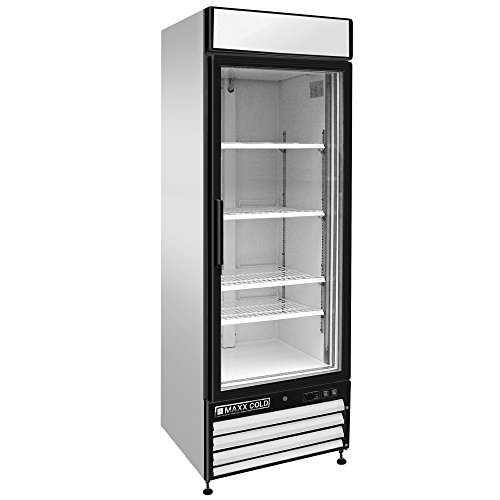 Maxx Cold MXM1-23RX One 1 Glass Door Upright Merchandiser Refrigerator Cooler - (Double Manual Refrigerator)