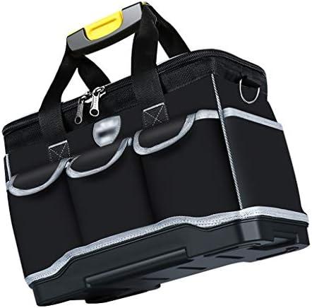 ツールオーガナイザー 13インチオックスフォードClothToolバッグ防水多区画ポケットツールバッグショルダーストラップバッグ(ブラック)との広口ストレージツールバッグ ポータブルツールボックス (サイズ : 20Inch)