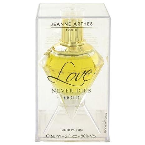 Amazoncom Jeanne Arthes Love Never Dies Gold Eau De Parfum 2 Oz