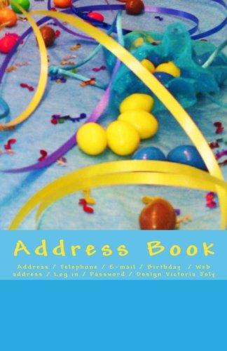 Address Book: Address / Telephone / E-mail / Birthday  / Web address / Log in / Password / Blue