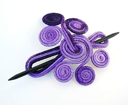 (Hair clamp Fork Slide Fascinator Stick barrette Whimsical Shawl pin Boho scarf clip Ponytail holder for thick)