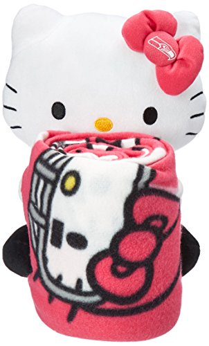 The Northwest Company Officially Licensed NFL Seattle Seahawks Hello Kitty Fleece Throw Blanket with Hugger, 40